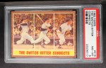 1962 Topps #318  The Switch Hitter Connects  -  Mickey Mantle Front Thumbnail