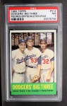 1963 Topps #412  Dodgers' Big 3  -  Johnny Podres / Don Drysdale / Sandy Koufax Front Thumbnail