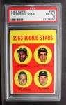1963 Topps #466   Rookie Stars   -  Bill Freehan / Tony Martinez / Nate Oliver / Jerry Robinson Front Thumbnail
