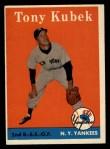 1958 Topps #393   Tony Kubek Front Thumbnail