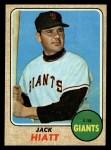 1968 Topps #419   Jack Hiatt Front Thumbnail
