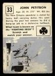1951 Topps #33  John Petitbon  Back Thumbnail