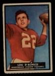 1951 Topps #14   Lou D'Achille Front Thumbnail