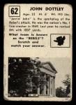 1951 Topps #62   John Dottley Back Thumbnail