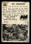 1951 Topps #68  Joe Johnson  Back Thumbnail