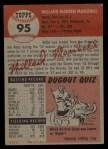 1953 Topps #95  Willard Marshall  Back Thumbnail