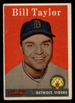 1958 Topps #389   Bill Taylor Front Thumbnail