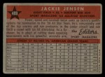1958 Topps #489  All-Star  -  Jackie Jensen Back Thumbnail