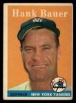1958 Topps #9  Hank Bauer  Front Thumbnail