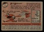 1958 Topps #38   Dick Gernert Back Thumbnail