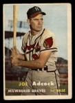 1957 Topps #117  Joe Adcock  Front Thumbnail