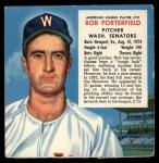 1953 Red Man #19 ALx Bob Porterfield  Front Thumbnail