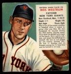 1953 Red Man #20 NLx  Wes Westrum Front Thumbnail
