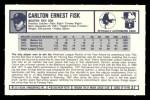 1973 Kelloggs 2D #27  Carlton Fisk  Back Thumbnail