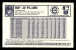 1973 Kelloggs 2D #10  Billy Williams  Back Thumbnail