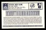 1973 Kelloggs 2D #50   Steve Kline Back Thumbnail