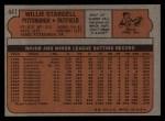 1972 Topps #447   Willie Stargell Back Thumbnail