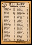 1968 Topps #3  NL RBI Leaders  -  Hank Aaron / Orlando Cepeda / Roberto Clemente Back Thumbnail