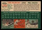 1954 Topps #145   Elmer Valo Back Thumbnail