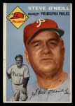 1954 Topps #127   Steve O'Neill Front Thumbnail