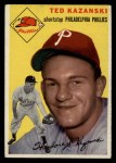 1954 Topps #78   Ted Kazanski Front Thumbnail