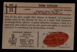 1953 Bowman #35  Tom Catlin  Back Thumbnail