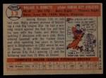 1957 Topps #13  Wally Burnette  Back Thumbnail
