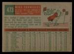 1959 Topps #473   Mike Fornieles Back Thumbnail