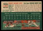 1954 Topps #113  Bob Boyd  Back Thumbnail