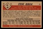 1953 Bowman Black and White #48  Steve Ridzik  Back Thumbnail