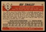 1953 Bowman Black and White #56  Roy Smalley  Back Thumbnail