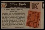 1955 Bowman #88  Steve Bilko  Back Thumbnail