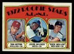 1972 Topps #741   AL - NL Rookie Stars  -  Tom Hutton / Rick Miller / John Milner Front Thumbnail