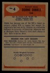 1955 Bowman #4   Dorne Dibble Back Thumbnail