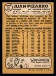 1968 Topps #19   Juan Pizarro Back Thumbnail