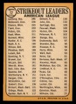 1968 Topps #12  AL Strikeout Leaders  -  Dean Chance / Jim Lonborg / Sam McDowell Back Thumbnail