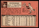 1969 Topps #92   Jack Billingham Back Thumbnail