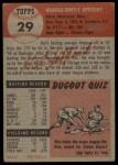 1953 Topps #29  Hal Jeffcoat  Back Thumbnail