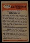 1955 Bowman #28   Jack Christiansen Back Thumbnail