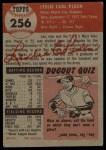 1953 Topps #256  Les Peden  Back Thumbnail