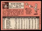 1969 Topps #413  Roland Sheldon  Back Thumbnail