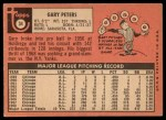 1969 Topps #34   Gary Peters Back Thumbnail