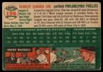 1954 Topps #196  Stan Jok  Back Thumbnail