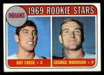 1969 Topps #244  Indians Rookies    -  Ray Fosse / George Woodson Front Thumbnail
