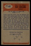 1955 Bowman #41  Ray Collins  Back Thumbnail