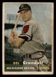 1957 Topps #133  Del Crandall  Front Thumbnail