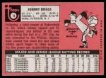 1969 Topps #73   Johnny Briggs Back Thumbnail