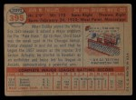 1957 Topps #395   Bubba Phillips Back Thumbnail