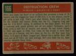 1959 Topps #166  Destruction Crew  -  Minnie Minoso / Rocky Colavito / Larry Doby Back Thumbnail