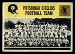1964 Philadelphia #153   Steelers Team Front Thumbnail